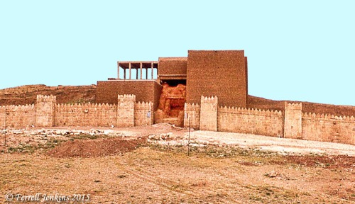Addad Gate of ancient Nineveh. Photo by Ferrell Jenkins, 1970.
