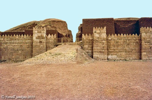 Reconstructed Shamash Gate at Nineveh in 1970. Photo by Ferrell Jenkins.