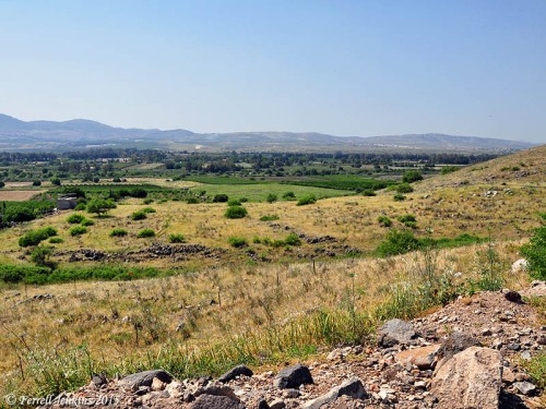 A view NW to the Hula Valley from Omrit. Photo by Ferrell Jenkins.