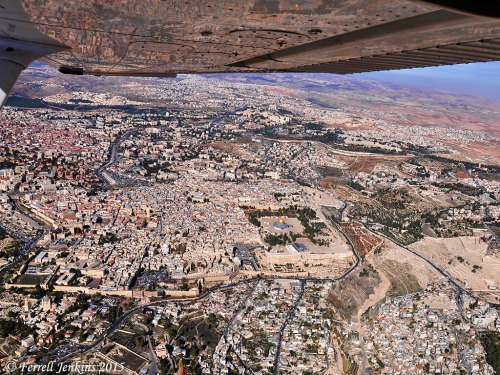 Jerusalem from the air. View north and east. Photo by Ferrell Jenkins.