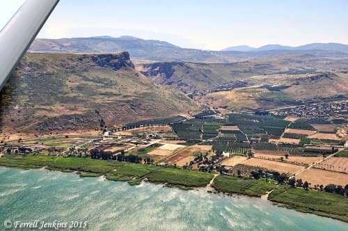 Aerial view of Magdala and the Plain of Genessaret. Photo by Ferrell Jenkins.