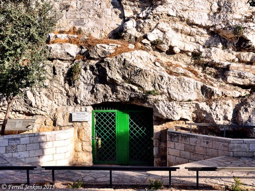 Entrance to Solomon's Quarries on Sultan Suleiman St. about a block east of Damascus Gate. Photo by Ferrell Jenkins.