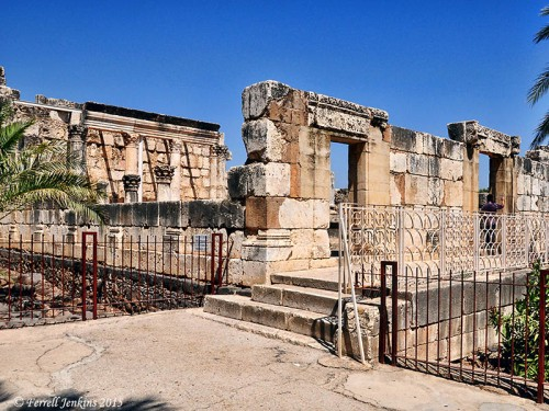 The reconstructed synagogue at Capernaum. Photo by Ferrell Jenkins.