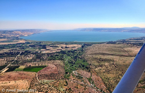 Bethsaida Plain, Jordan Valley, and the Sea of Galilee. Aerial photo by Ferrell Jenkins.