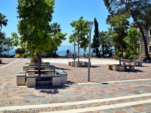 The new plaza at Capernaum. Photo by Ferrell Jenkins.