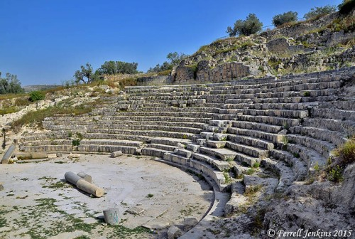 The Roman theater at Samaria. Photo by Ferrell Jenkins.