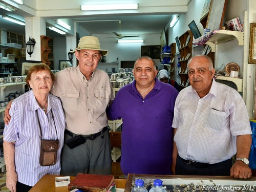 Elizabeth and I with the friendly and helpful owners of The Samaria Restaurant. Photo by David Padfield.
