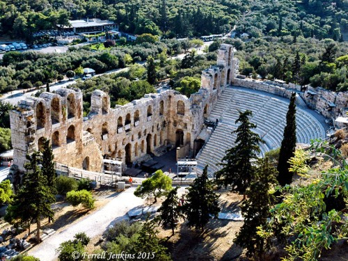 Odeon of Herodes Atticus on the slope of the Acropolis in Athens, Greece. Photo by Ferrell Jenkins.