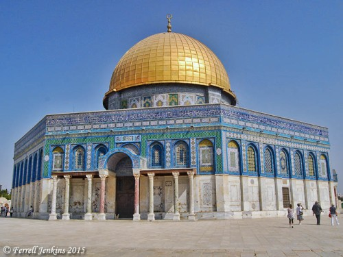 The Dome of the Rock stands where Solomon's Temple was built. Photo by Ferrell Jenkins.