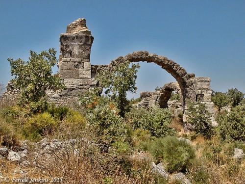 Ruins of the Bath of Herodes Atticus at Troas. Photo by Ferrell Jenkins.