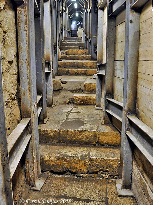 Steps leading from the Pool of Siloam to the Temple Mount. Photo by Ferrell Jenkins.