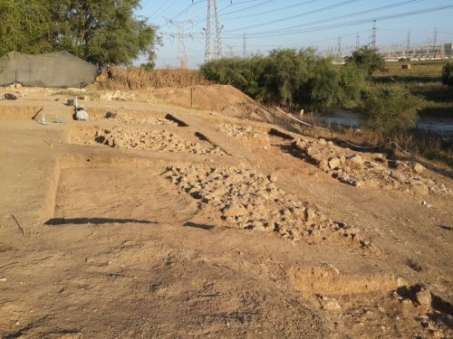 This is a view of the remains of the Iron Age city wall of Philistine Gath. Credit: Prof. Aren Maeir, Director, Ackerman Family Bar-Ilan University Expedition to Gath