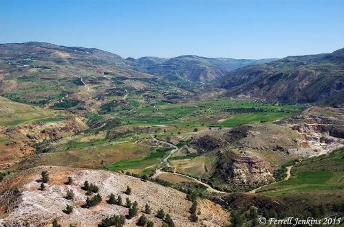 View looking east toward Amman. Photo by Ferrell Jenkins.
