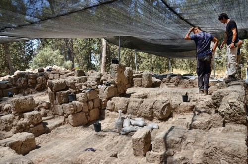 Archaeologists ponder whether these tombs actually belong to the Maccabeans. Photo by Israel Antiquities Authority.
