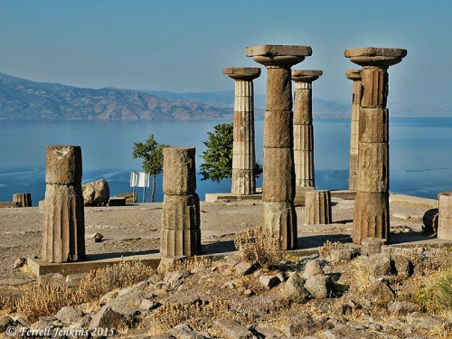 A view of Lesbos across the strait from Assos and the temple of Apollo. Photo by Ferrell Jenkins.
