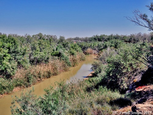 The Jordan River at Bethan Beyond the Jordan. Photo by Ferrell Jenkins.