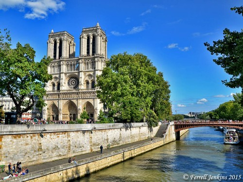 Notre Dame and the River Seine. Photo by Ferrell Jenkins.