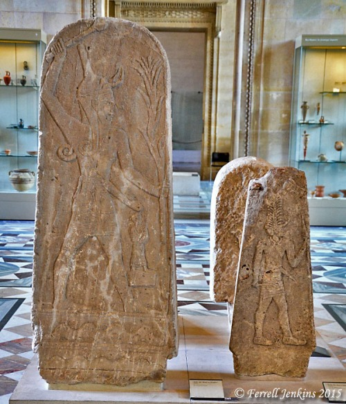Stele of Baal from Ugarit (Ras Shamra). Displayed in Louvre. Photo by Ferrell Jenkins.