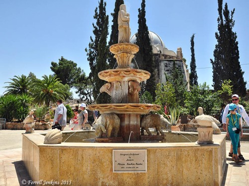 Fountain at Franciscian Custody Shepherd's Field near Bethlehem. Photo by Ferrell Jenkins.
