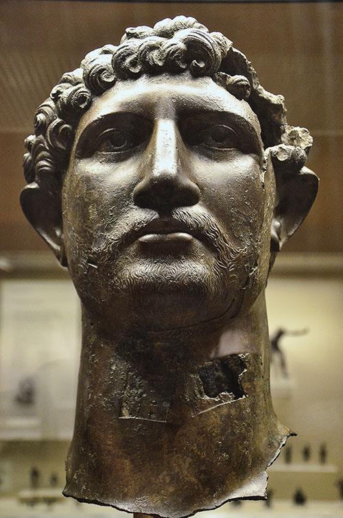 Bronze Head of Hadrian. Following Hadrian.