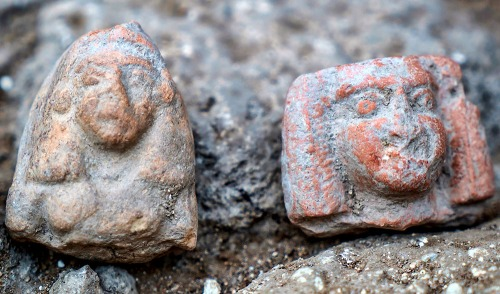 Female figurines dating to the Late Bronze Age. Photographic credit: Eran Gilvarg, courtesy of the Israel Antiquities Authority