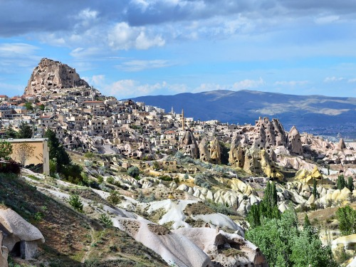 Uchisar in Cappadocia from Pigeon Valley. Photo by Ferrell Jenkins.