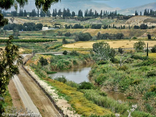 The Jordan River flowing into Jordan for a short distance. Photo by Ferrell Jenkins.