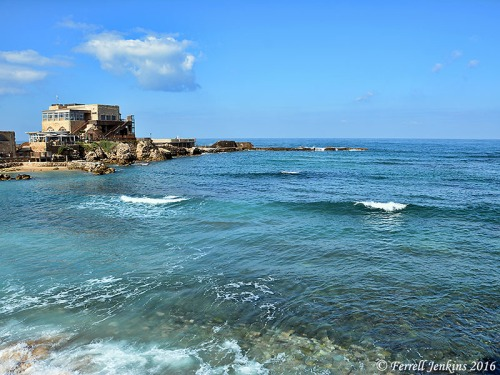 The harbor at Caesarea. The Apostle Paul used this harbor many times during his preaching tour, and from here was taken to Rome to stand trial before Caesar. Photo by Ferrell Jenkins.