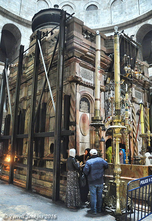 The Edicule of the Holy Sepulchre. Photo by Ferrell Jenkins.