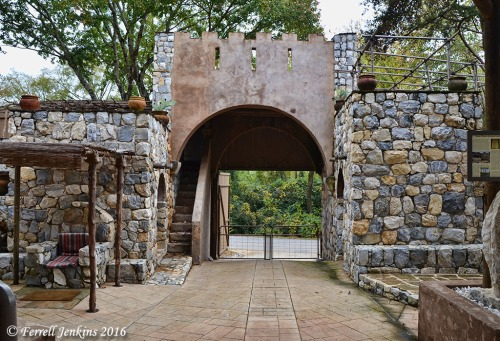 The gate at the Biblical History Center. Photo by Ferrell Jenkins.
