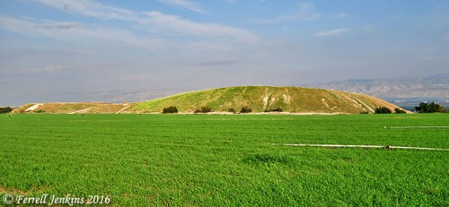 View east of Tel Rehov in the Beth Shean Valley. Photo by Ferrell Jenkins.
