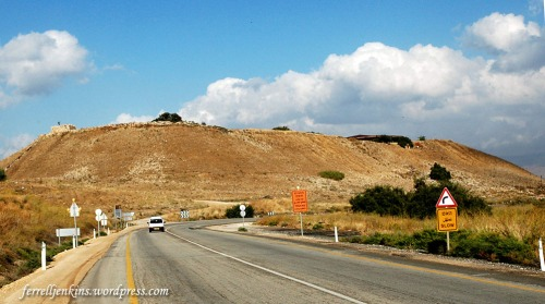Tel Hazor (upper mound) from the south. Photo by Ferrell Jenkins.
