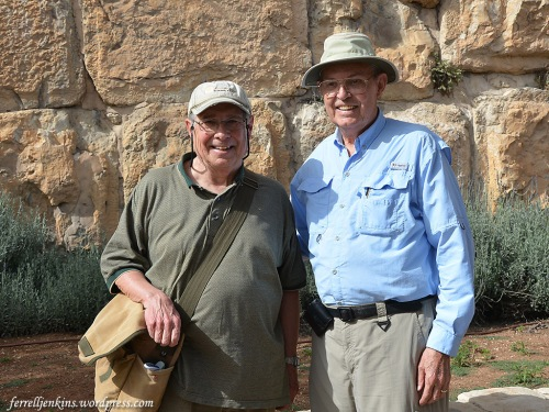 Carl Rasmussen and Ferrell Jenkins in Jerusalem. April 5, 2016.