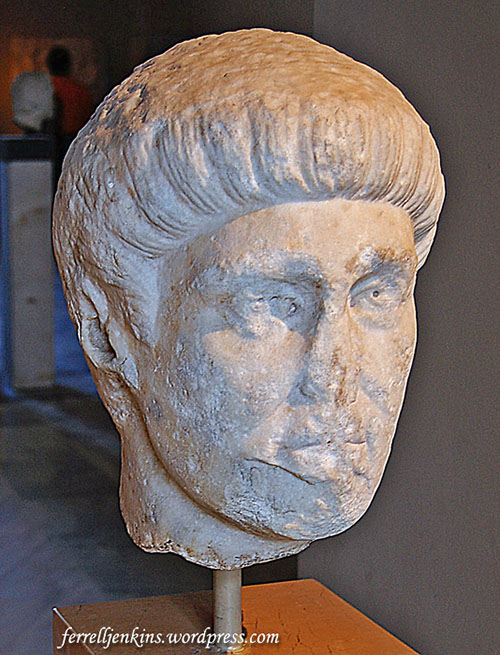 Emperor Constantine the Great (A.D. 507-337). Statue in Istanbul Archaeological Museum. Photo by Ferrell Jenkins.