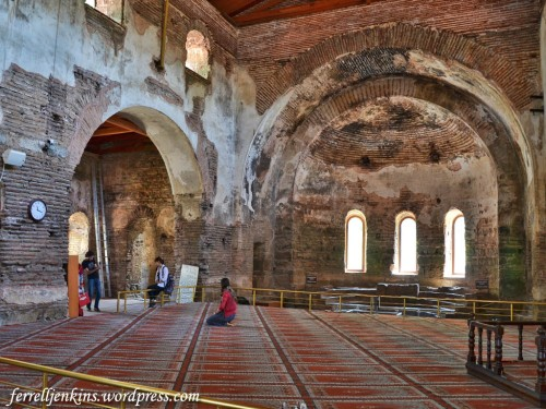Interior of the Haghia Sophia (Orhan) Mosque in Itnik. Photo by Ferrell Jenkins.