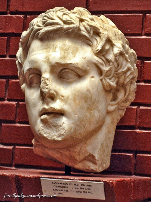 Bust of Lysimachus in the Selçuk,Turkey. Photo by Ferrell Jenkins.