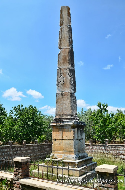 The stone obelisk on the road from Nicea to Nicomedia. Photo by Ferrell Jenkins.