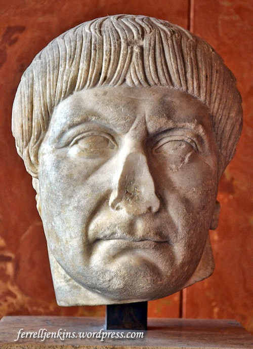 Emperor Trajan (A.D. 97-117). Louvre. Photo by Ferrell Jenkins.