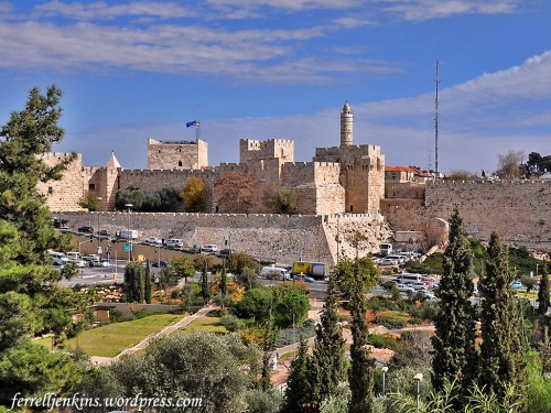 This view of the Citadel was made from the west, looking across the Hinnom Valley. Photo by Ferrell Jenkins.