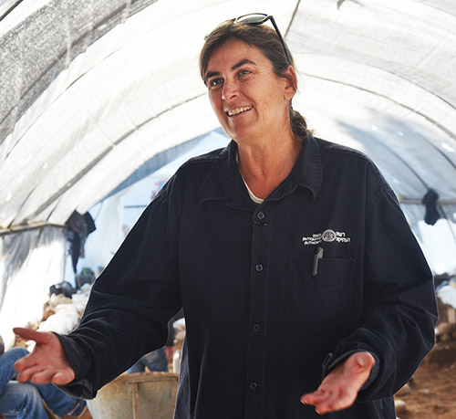 . Dr. Rina Avner, excavation director on behalf of the Israel Antiquities Authority. Photographic credit: Yoli Shwartz, courtesy of the Israel Antiquities Authority.