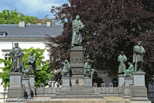 Luther Monument in Worms, Germany. This is the largest Luther Monument in the world. Photo by Ferrell Jenkins.