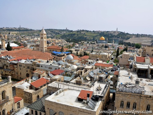 This is a view east from the Tower of David. Photo by Ferrell Jenkins.