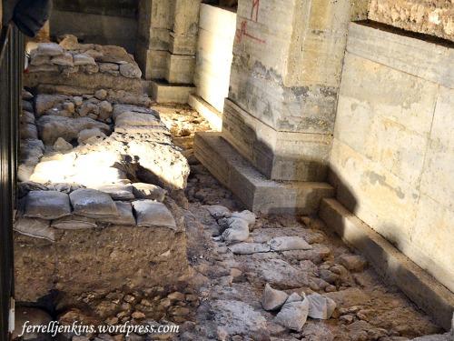 Herodian ruins in the Kishle. Photo by Ferrell Jenkins.