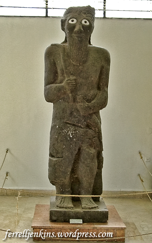 Statue of Hadad displayed in the Aleppo National Museum. Photo by Ferrell Jenkins.