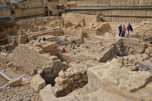The Givati Parking Lot excavation. Photo: Asaf Peretz. Courtesy of the Israel Antiquities Authority.