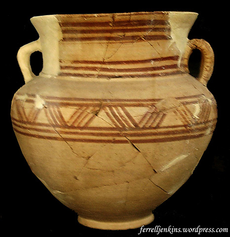 Pottery from Tell Mardikh (Ebla) in Aleppo Museum. Photo by Ferrell Jenkins.