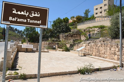 Bal'ama is marked as Bal'ama Tunnel on the west side of the road from Jenin to Dothan, Samaria, and Nablus (Shechem). Photo by Ferrell Jenkins.