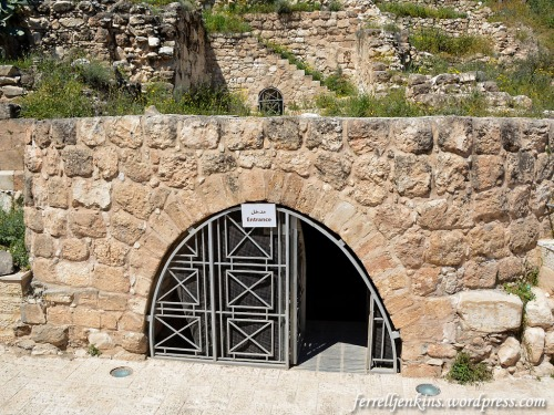 Entrance to the tunnel at Khirbet Bal'ama. Photo by Ferrell Jenkins.