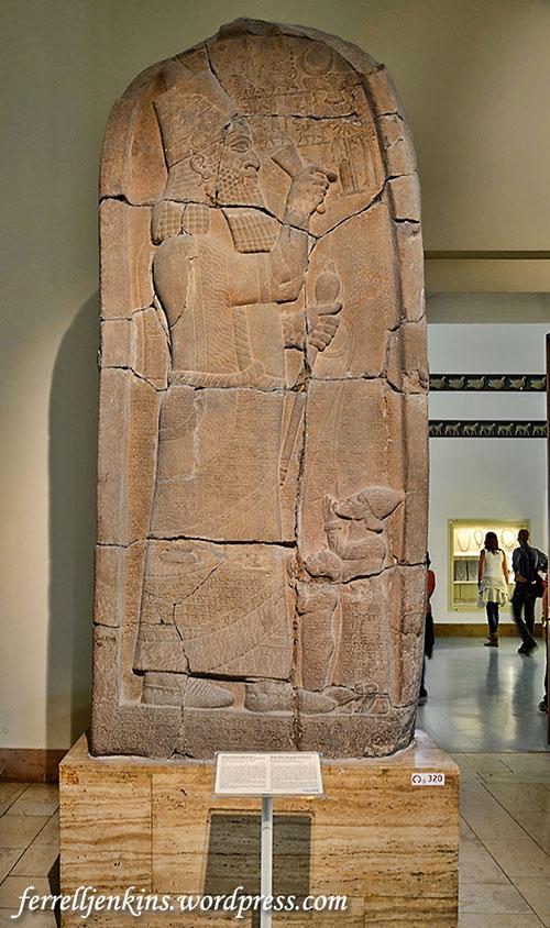 Stele of Esarhaddon displayed in the Pergamum Museum, Berlin. VA 2708. Photo by Ferrell Jenkins.