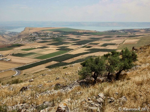 View of the Sea of Galilee from the Horns of Hattin. Photo by Larry Haverstock.